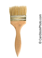 paint brush on a white background isolated