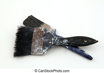 Paint brush on a white background.