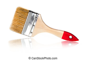 paint brush on a white