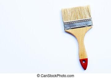 Paint brush on white background.