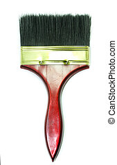 Paint brush on  white background