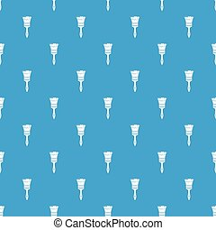Paint brush pattern seamless blue
