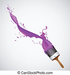 illustration of splash of color from paint brush