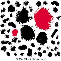 Paint brush spots