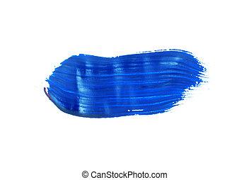 paint brush stroke texture blue watercolor spot blotch ...