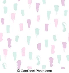 Paint brush strokes. Pastel colours. Vector abstract seamless pattern