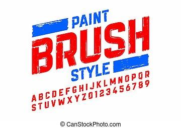 Paint brush style modern font