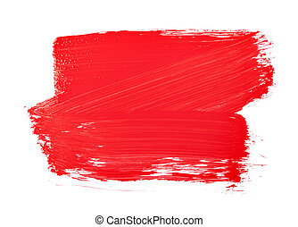 paint brush texture - Red paint brush texture isolated on...