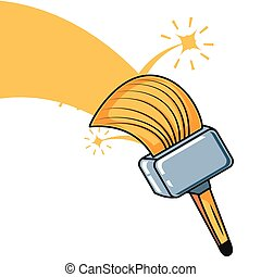 paint brush tool isolated icon