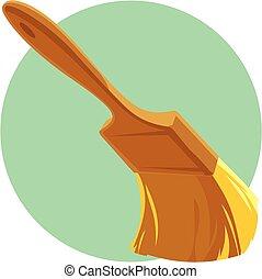 Paint brush. Vector illustration