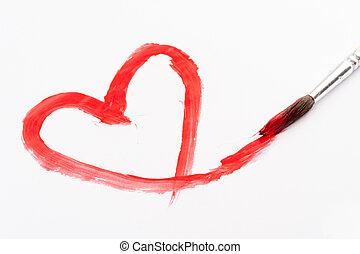 heart paint