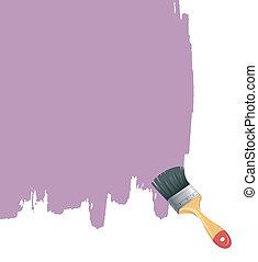 Paint brush with splash
