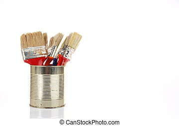 paint brushes background
