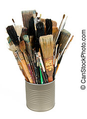Paint brushes in a can