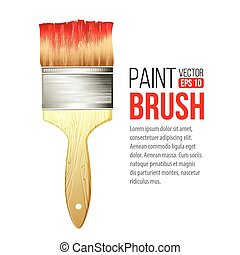 Paint Brushes isolated on white. Vector illustration EPS 10