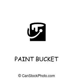 Paint bucket flat vector icon