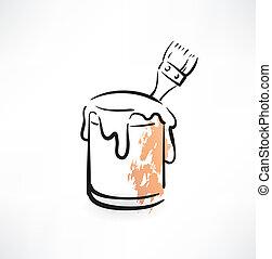 paint bucket grunge icon