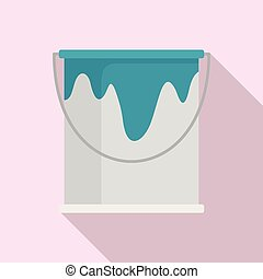 Paint bucket icon, flat style
