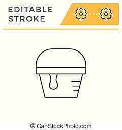 Paint bucket line icon