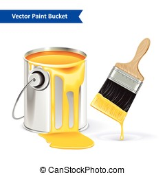 Paint Bucket Vector Illustration