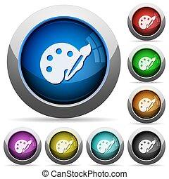 Paint button set