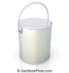 Paint Can - 3D rendered Illustration. Isolated on white.