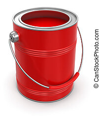 Paint can (clipping path included)