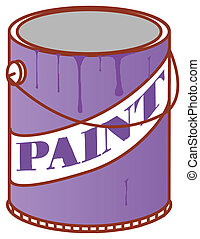 Paint Can - illustration drawing of a color paint can in a...