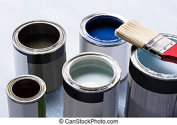 Paint Can With Paintbrush