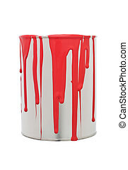 Paint Can with Red spill