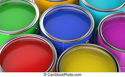 paint cans open