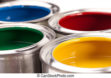 paint cans - Paint cans isolated on white background