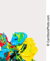 Paint color isolated on white background.
