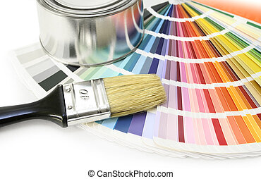 Paint color swatches - Paint color chart sample swatches,...