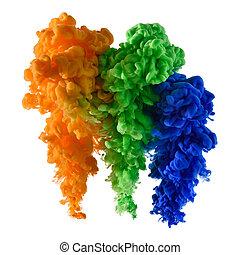 Paint colorful splashes
