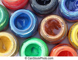 Paint colors pot