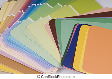 Paint colour swatches - Variety of interior paint colour...
