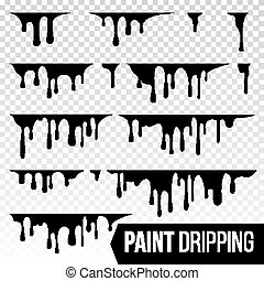 Paint Dripping Liquid Vector. Abstract Current Inks. Blood Splatter Background. Isolated Illustration