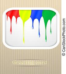 Paint drips postcard vector illustration