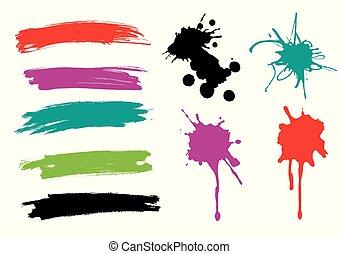 paint., eclabousse, brosse caresse