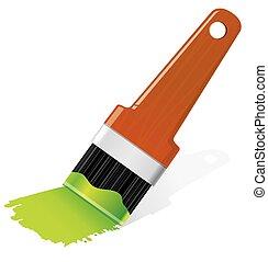 paint., escova