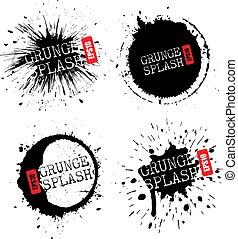 Paint grunge splash vector icon
