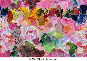 Paint Pallet Background