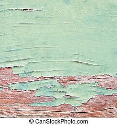 Paint peeled wooden board texture background