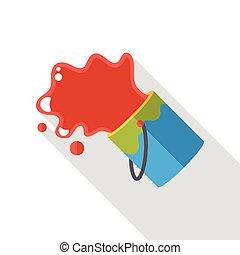 paint pigment flat icon