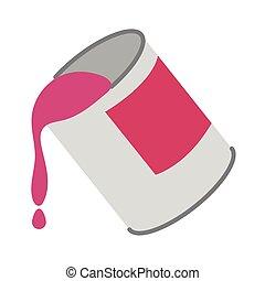 paint pot flat style icon