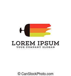 paint Real estate logo design concept template