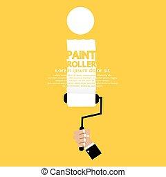 Paint Roller Alphabet I.