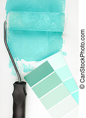 paint roller and color chart choice