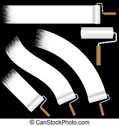 paint roller collection - collection of paint rollers with...